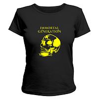 Летняя стильная футболка для девушек с рисунком череп Immortal Generation, фото 1