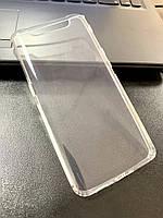 Чехол для Samsung A80 / A90 силиконовый прозрачный (с заглушками)