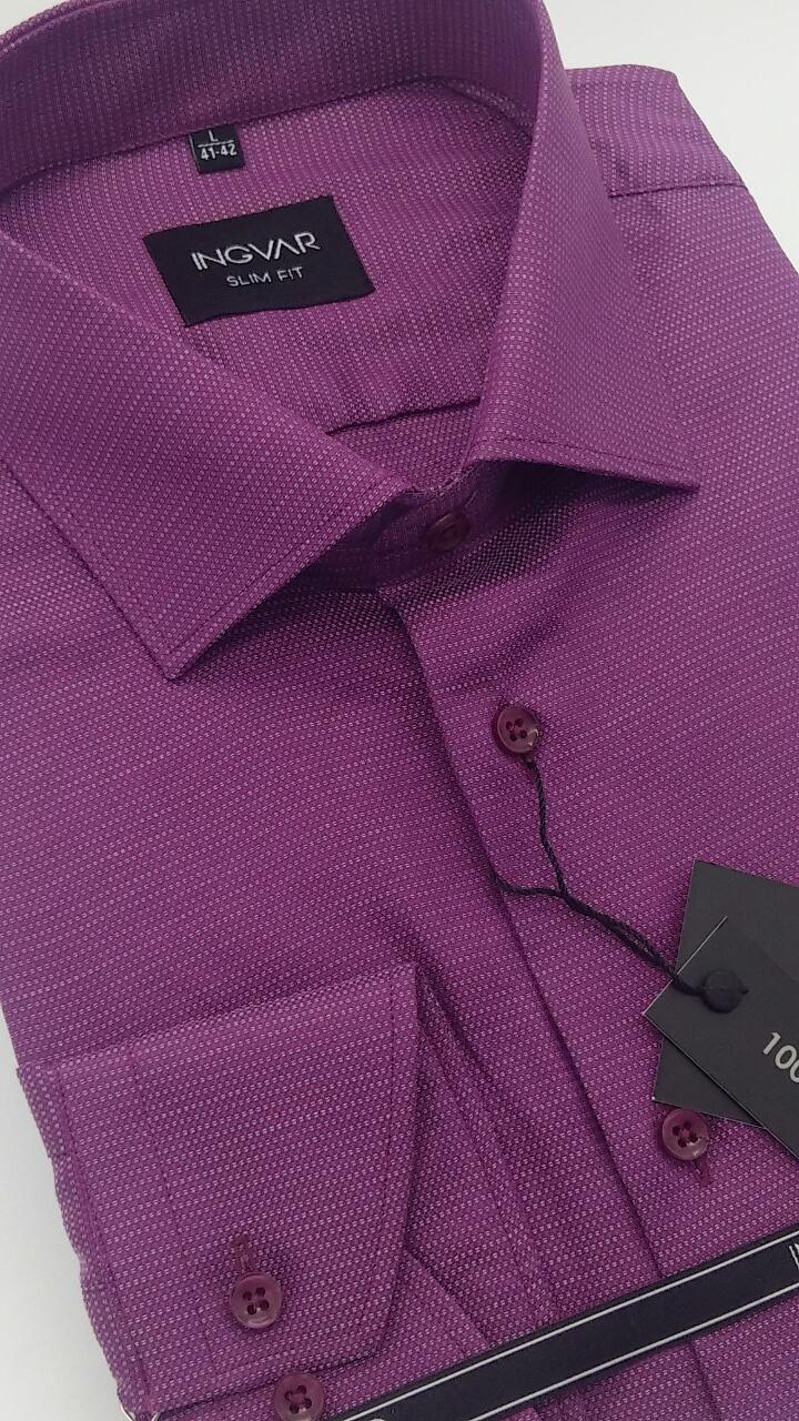 Рубашка мужская жаккардовая 100% хлопок  ТМ INGVAR
