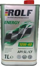 Масло ДВС, ROLF, 10W-40, Energy SL/CF, 1л, п/сінт, (пластик)