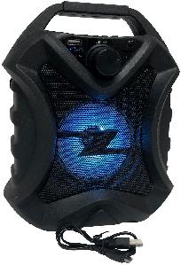 Портативная колонка Bluetooth+светомузыка JBK-411 22x17 см. Синий
