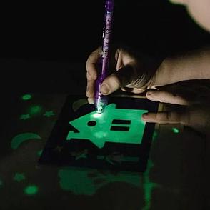 Набор для творчества интерактивный Рисуй Светом (А4) развивающий, детский игральный набор, творческий набор, фото 2