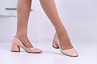 Туфли лодочки женские, натуральная кожа рептилия!