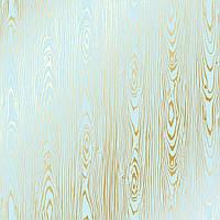Лист односторонней бумаги с фольгированием Golden Wood Texture Blue 30,5х30,5 см