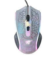 Мышь проводная игровая Havit HV-MS736 USB с подсветкой, белый, фото 1
