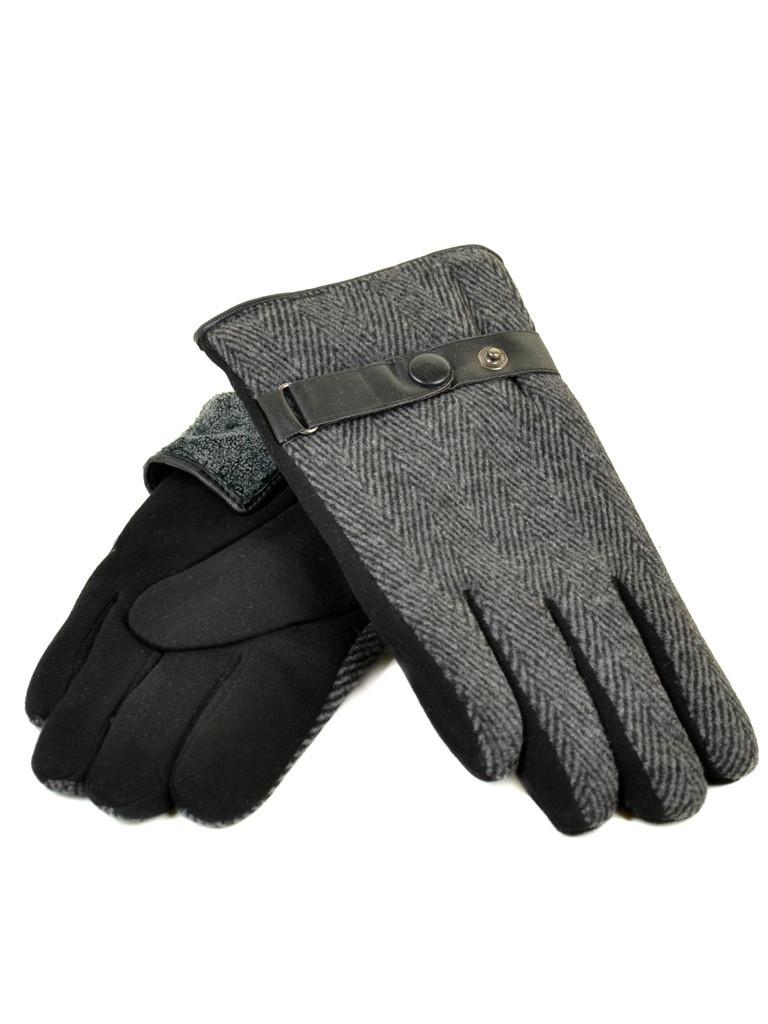 Перчатка Мужская стрейч M3/17 мод2 black махра Распродажа