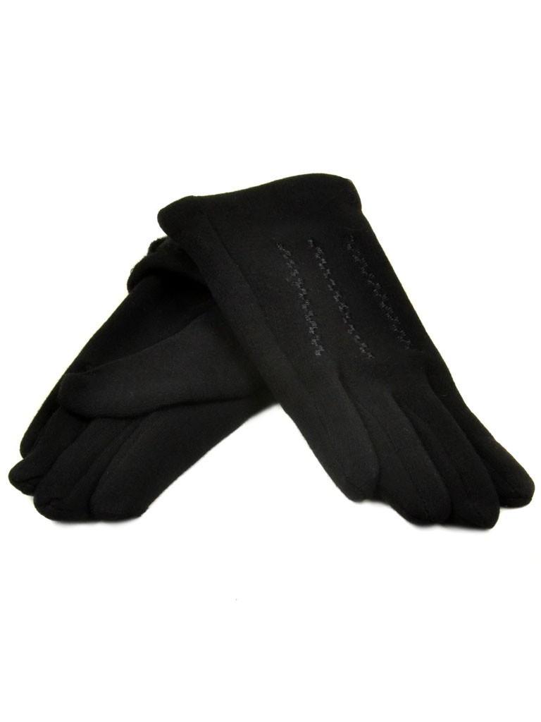 Перчатка Подростковая стрейч D2 ПЛ мод-3 black (мальчик) Распродажа