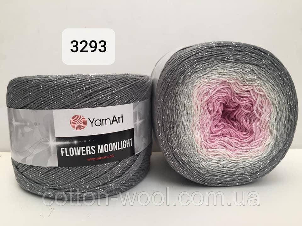 Yarnart Flowers Moonligth (Фловерс Мунлайт) 53% - бавовна, 43% - поліакріл, 4% - люкерм 3293