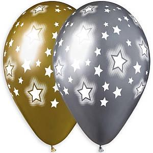 """И 13"""" Латексные шары круглые Звездное небо"""