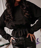 Кофточка женская чёрный, фрез
