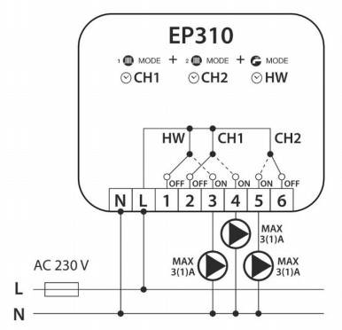 Salus EP310 Программатор 3-канальный, фото 2