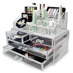 Акриловый органайзер для косметики BEAUTY BOX, органайзер настольный, органайзер для хранения косметики, фото 2