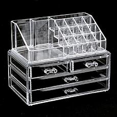 Акриловый органайзер для косметики BEAUTY BOX, органайзер настольный, органайзер для хранения косметики, фото 3
