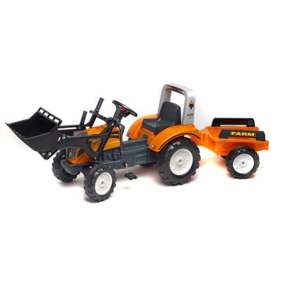 Трактор RANCH оранжевый с лопатой и прицепом  от 3х до 7 лет