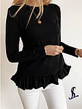 Жіноча Кофточка чорний, сірий, бежевий, фото 5