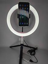 Кольцевая светодиодная Led Лампа диаметр 26cm 12W штатив для телефона