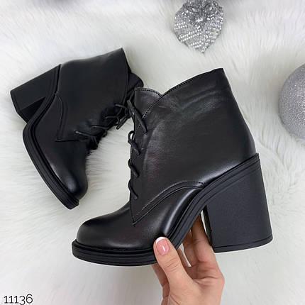 Кожаные ботинки на шнурках, фото 2