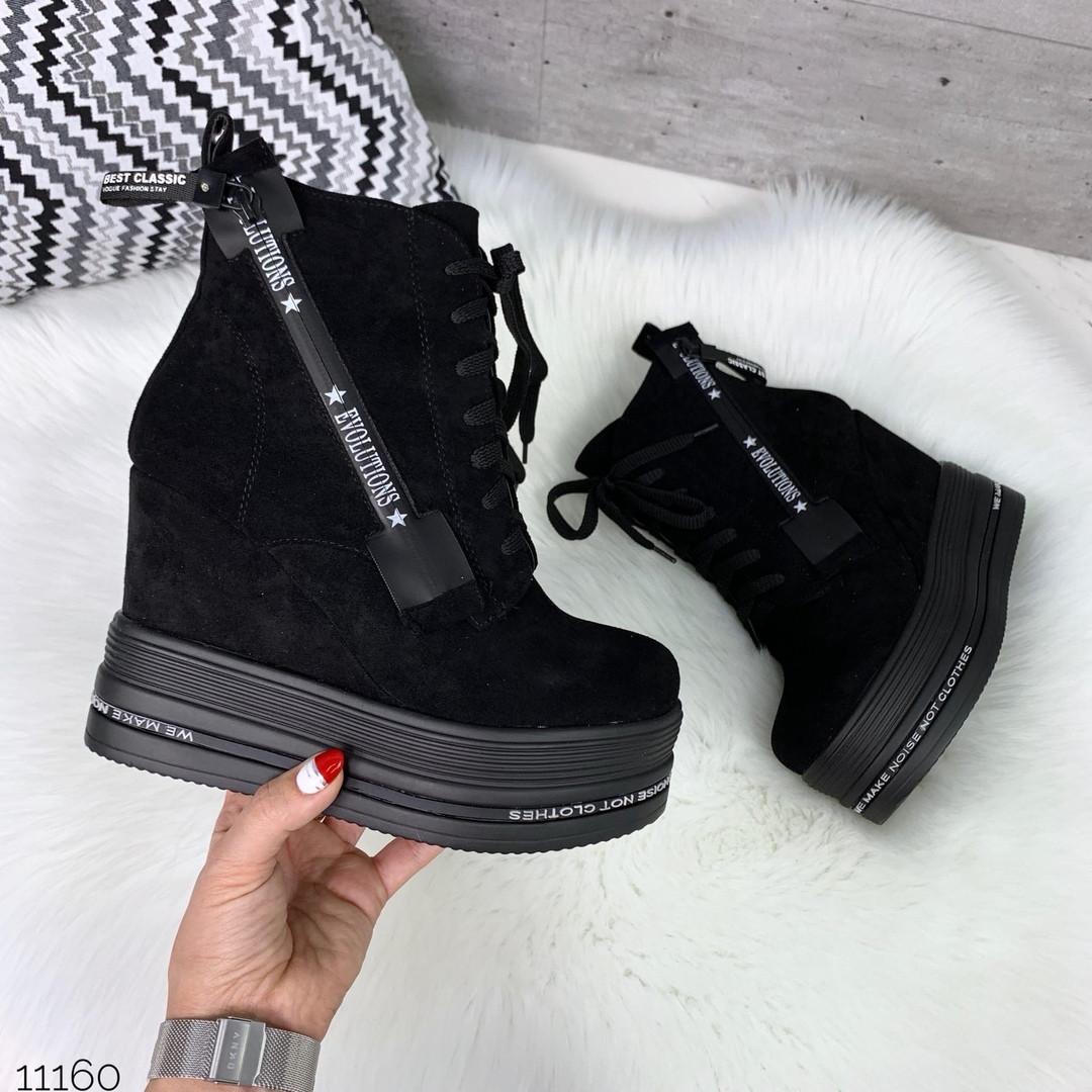 Замшевые ботинки женские
