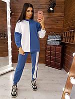 Теплый костюм колор блок на флисе, фото 1