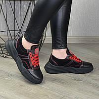 Кроссовки женские на спортивной подошве из натуральной кожи и замши. 37 размер