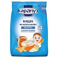 Каша молочная Карапуз мультизлаковая с печеньем 210 г  мягкая упаковка, с 7 месяцев