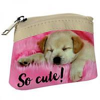 Детский кошелек KID Милый спящий щенок, Дитячий гаманець KID Милий сплячий щеня