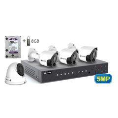 Комплект видеонаблюдения BALTER KIT 5MP 3bullet 1dome 2ТБ (3 шт наружных и 1 шт купльная видеокамера)
