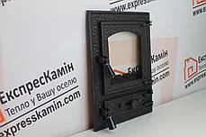 """Дверцы печные со стеклом """"BASTION"""" 370х510 Чугунные дверцы для печи кухни барбекю, фото 3"""