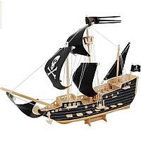 3D Деревянный конструктор. Модель Пиратский корабль, 3D Дерев'яний конструктор. Модель Піратський корабель