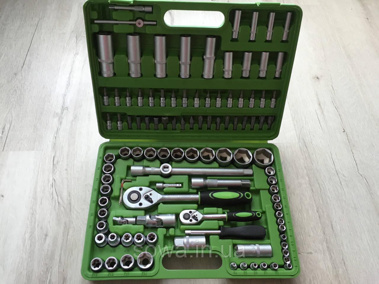 ✔️ Набор ключей, головок Al-Fa 108 шт . из хром-ванадиевой стали