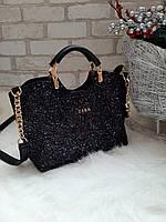 Женская сумка с глиттером через плечо