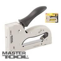 MasterTool  Степлер рессорный ПРОФИ для скобы 4-14 мм 11,3*0,7 мм, плавная регулировка силы удара, корпус металл, Арт.: 41-0904