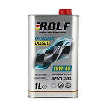 Масло ДВС 10W-40 ROLF діз, Dynamic Diesel CI-4/SL, 1л, п/сінт