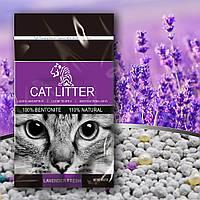 Бентонитовый наполнитель для кошачего туалета TIGER PET Bentonite Cat Litter запах лаванды 5л, 4кг