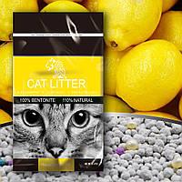 Наполнитель TIGER PET для кошачего туалета бентонитовый Bentonite Cat Litter запах лимона 5л, 4кг