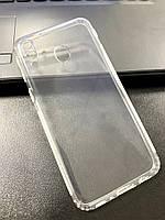 Чехол для Samsung M20 силиконовый прозрачный (с заглушками)