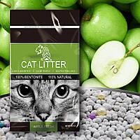 Наполнитель для кошачего туалета бентонитовый TIGER PET Bentonite Cat Litter запах яблока 5л, 4кг