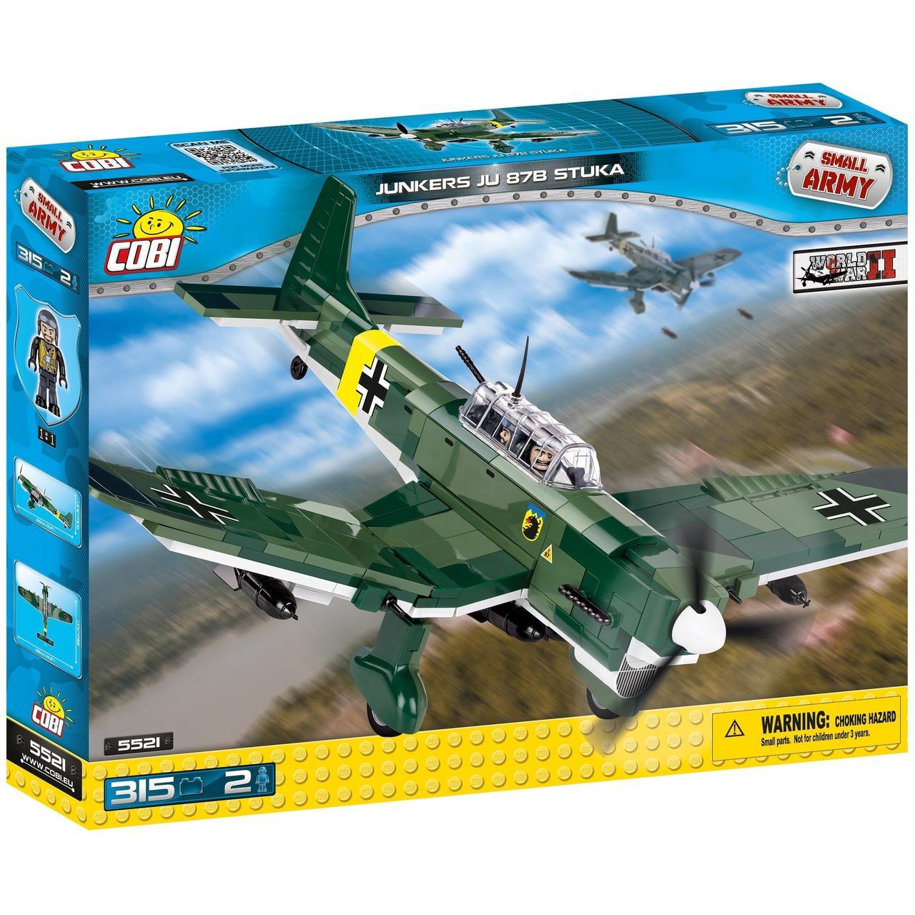 Конструктор COBI Вторая Мировая Война Самолет Юнкерс Ю-87 315 деталей (COBI-5521)(5902251055219)
