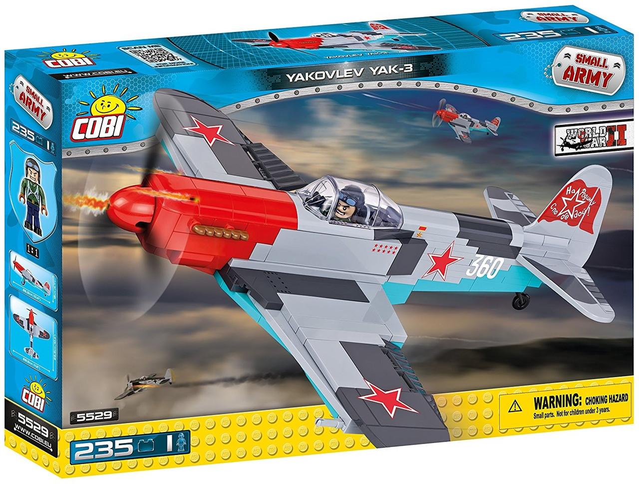 Конструктор Cobi Вторая Мировая Война Самолет Як-3 235 деталей (COBI-5529) (5902251055295)