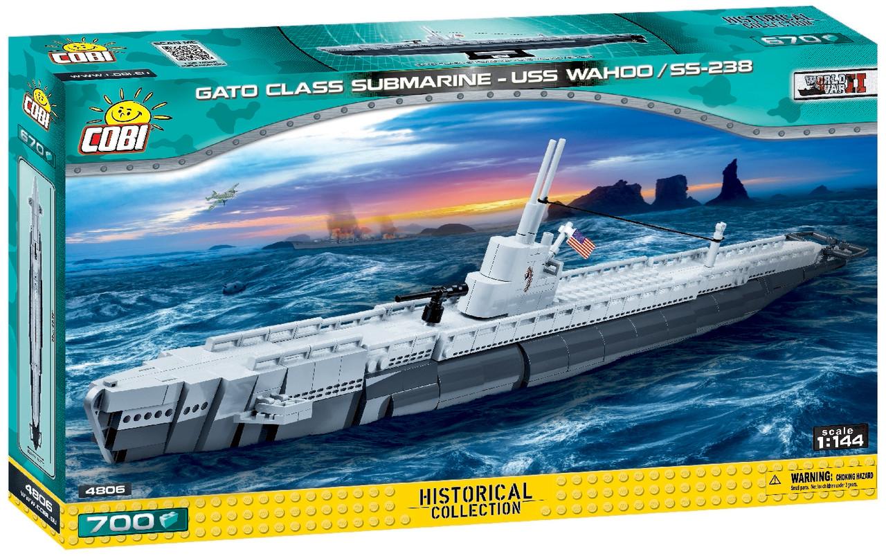 Конструктор Cobi World Of Ships Подводная лодка Ваху SS-238 700 деталей (COBI-4806) (5902251048068)