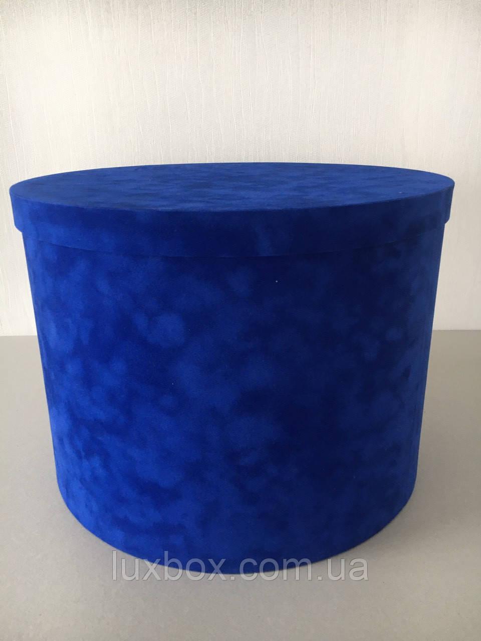 Шляпна коробка Велюрова(бархатна коробка) h30/d40