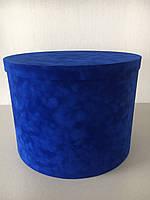 Шляпна коробка Велюрова(бархатна коробка) h30/d40, фото 1
