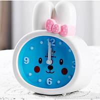 Детские настольные часы-будильник Зайка. Белые ушки, Дитячі настільні годинники-будильник Зайчик. Білі вушка