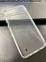 Чехол для Samsung M10 силиконовый прозрачный (с заглушками)
