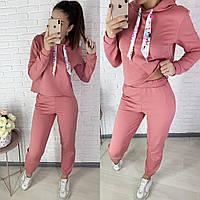 Женский однотонный спортивный костюм