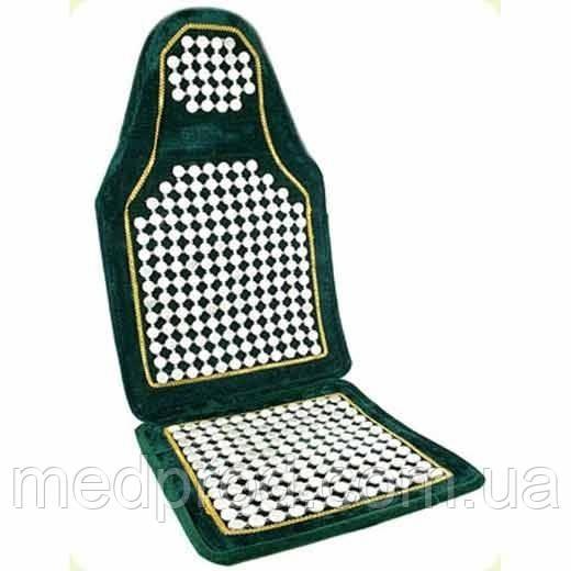 Коврик нефрит накидка на сиденье авто, офисного или домашнего кресла