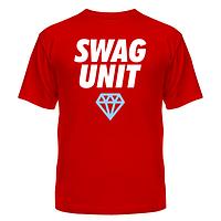 Популярная молодёжная футболка с нанесением Swag Unit, фото 1