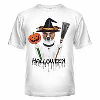 Футболка Хеллоуин с собакой