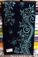 Полотенце  махровое для лица 50*90 Луговой бирюзовый