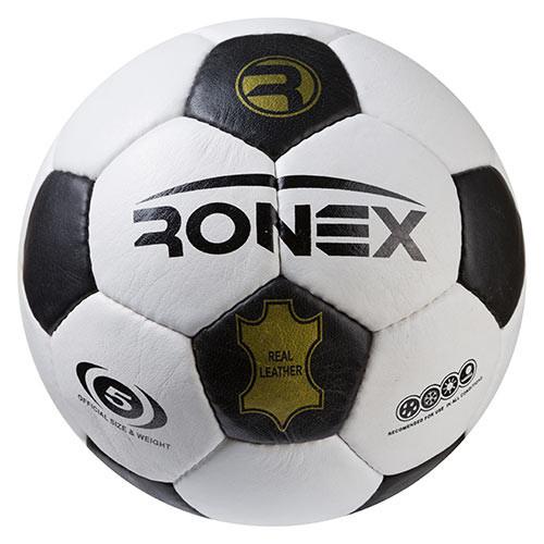 Мяч футбольный Ronex(MK) кожа, черно/белый